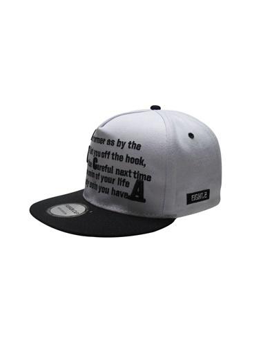 Laslusa Yazili Hip Hop Snapback Şapka Beyaz